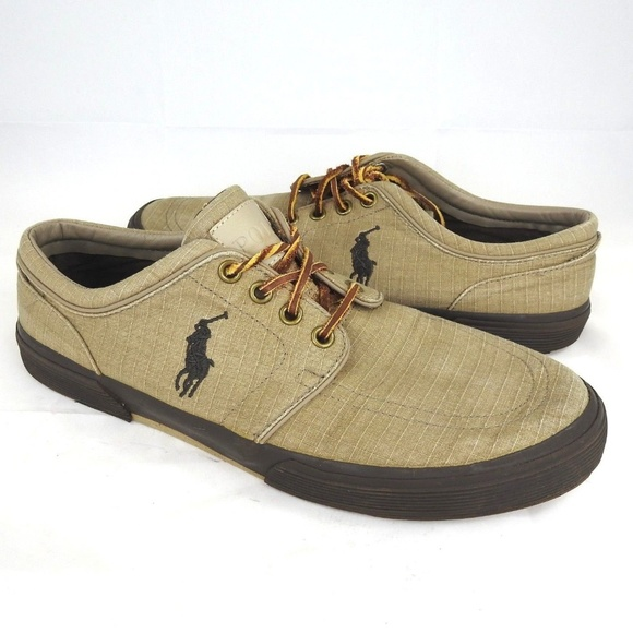 POLO Faxon Low Mens Shoe Tan Size 10